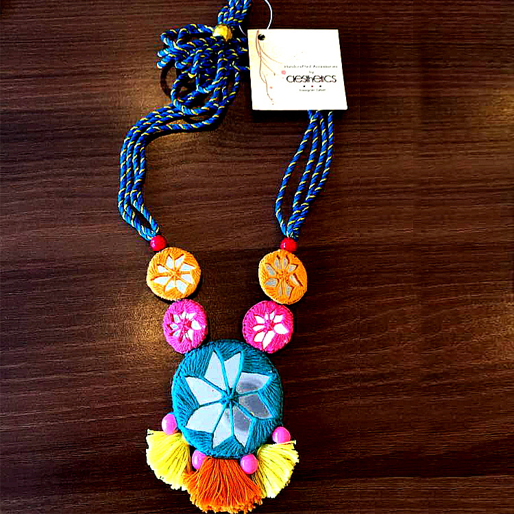 Mirror Joint Tassels Necklace